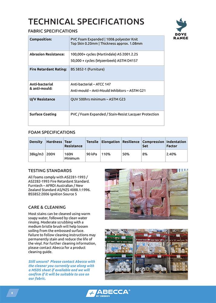 Dove Range Technical Specifications