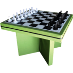 Eagle Range – Square Dining Table Printed Chess